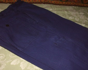 Working vintage, campaign, business, blue work pants