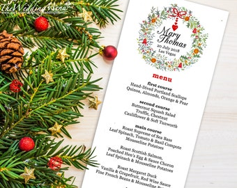 Christmas Menu Template Christmas Menu PDF Wedding Menu Holiday Menu Printable Menu Christmas Dinner Menu Template Christmas Party Menu