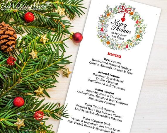 christmas menu template christmas menu pdf wedding menu. Black Bedroom Furniture Sets. Home Design Ideas