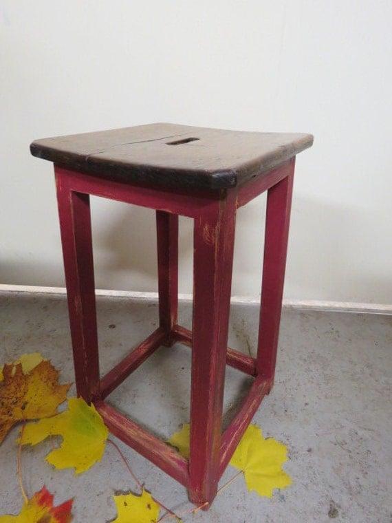 Oak stool painted