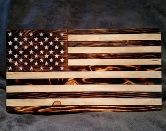 American Flag - Burnt