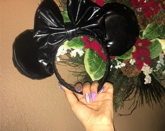 Shiny Black Mickey Ears