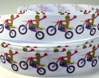 "7/8"" Motorbike, Dirt Bike, Grosgrain Ribbon"