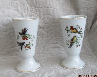 VINTAGE FRENCH CUPS, limoges, porcelain cups, handpainted, bird collectors,limoges vases, french decor, antique cups, table decor, flower