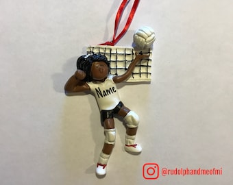 SALE! Volleyball Girl Ornament, Personalized