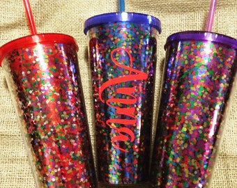 24oz Personalized Confetti Tumbler