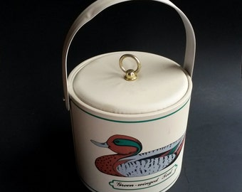 Vintage George Briard Ice Bucket, Retro Ice Bucket, Mallard Ice Bucket