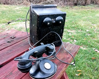 1930's Western Electric Telephone With Ringer Box, Father's Day Gift