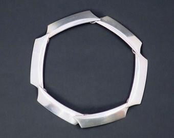 Georg Jensen Modernist Sterling Silver Link Bracelet by Bent Gabrielsen