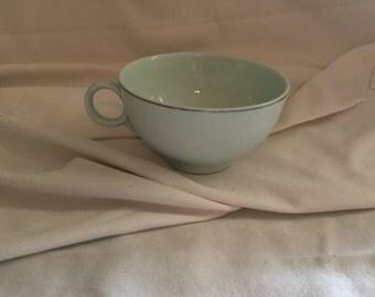 Sky blue tea cup