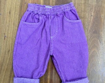 Little Girls Purple Retro Trousers
