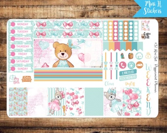 Mini H Teddy Bear Weekly Planner Stickers, {#37}