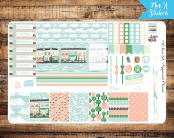 Mini H Spring Around the Town Weekly Planner Stickers {#46}