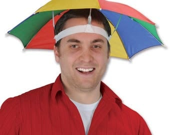 Hat umbrella for head ideal for festival, concerts, fishing,