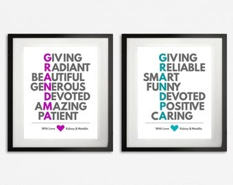 Grandparent Print Set, Gifts for Grandparents, Grandparent Gifts from Grandkids, Grandma & Grandpa Art, Personalized Gift, Custom Gift, Poem