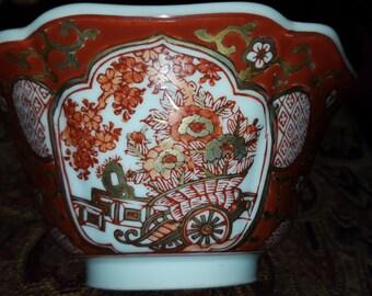 Gold Imari Porcelain Hand Painted Bowl
