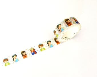 Kawaii Girl Four Seasons Washi Tape 15mm