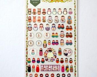 Kawaii Matryoshka Stickers