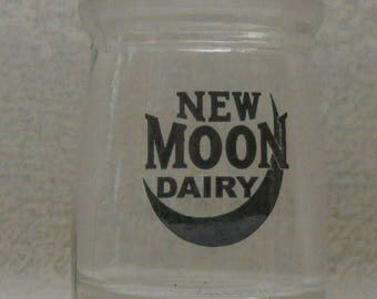 Vintage New Moon Diary Glass Single Serving Creamer