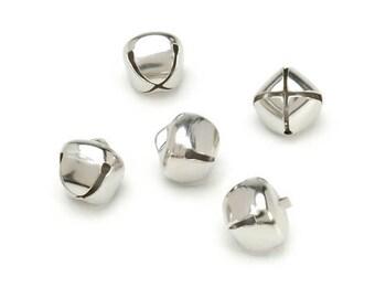 Darcie Jingle Bells - Silver - 5/8 inch - 36 pieces