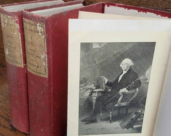 1903 Vintage George Washington Books- Life and Times of Washington- Biography/American History, Revolutionary War, U.S. Presidents, Antique.