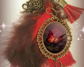 Bronze Butterfly bag jewel