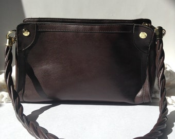 Relic / Division of Fossil / Brown East-West Shoulder Bag / Purse