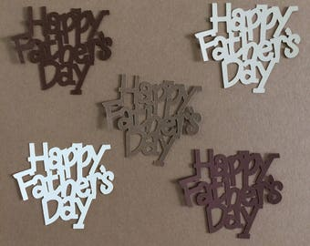 10  Happy Father's Day Die Cuts for Paper Crafts in Nostalgia Colors Set 5811