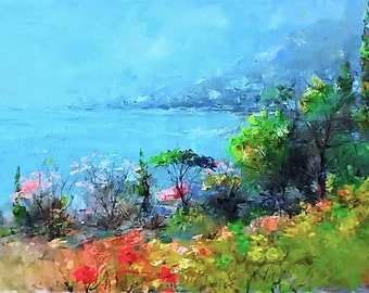 Oil painting Landscape Painting Landscape art Seascape Painting Sea painting Home decor wall art Large wall art Impressionist painting