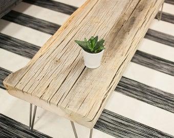 Live edge reclaimed coffee table