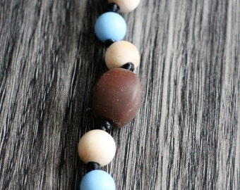 Teething Pacifier clip: Misty woods