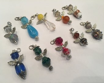 Jewellery charms guardian angel with beads - size S