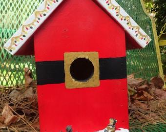 Santa on the Way Birdhouse