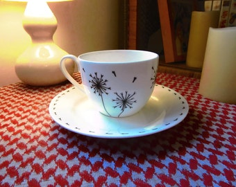 Hand Painted Bone China Tea Cup