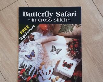 Butterfly Safari in Cross Stitch Needlework Magazine Supplement, Butterfly Cross Stitch Chart