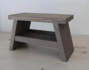 Childrenu0027s Bench // Kidu0027s Storage Bench // Kidu0027s Step Stool // Foot Stool