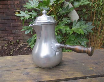 Vintage french pewter coffee pot.