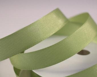 Grosgrain Ribbon, Apple Green Ribbon, 1 Meter Ribbon, 16mm Ribbon, Craft Ribbon, Sewing Supplies, Etsy Shop Supplies