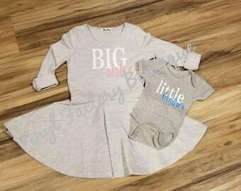 Sibling shirt set big sister, little sister, big brother, little brother