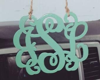 Monogram car charm
