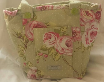Price Reduced.Pretty, Handmade, Vegan Shoulder bag.