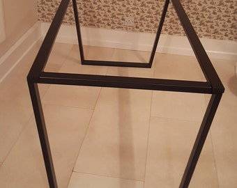 Metal table legs with frame