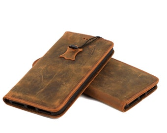 iPhone 7 Wallet Case, Handmade Genuine Leather Case, iPhone 7 cover, special gift case