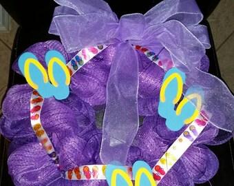 Purple Flip Flop Wreath