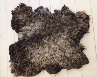 Felted Blue Texel vegan sheepskin