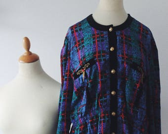 Colorful blouse vintage retro 1980