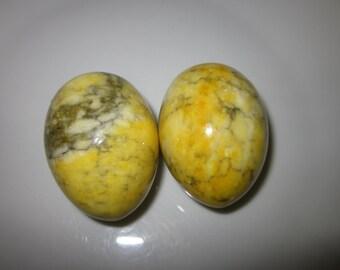Lot of 2 Vintage Italian Marble Eggs.  Lovely!!!!