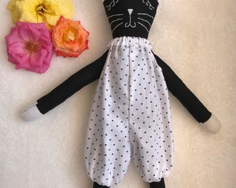 Handmade organic eco-friendly soft doll toy