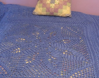 Berry Blue Lace Afghan