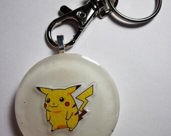 """POKEMON Pikachu Glow Resin Charm Keychain [1.5""""] (Aqua)"""